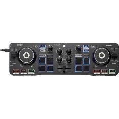 Hercules DJControl STARLIGHT controleur DJ Lite DJing avecSerato Interface audio DJ intégrée jogs wheels sensible - égal des bas
