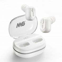 Ecouteurs sans fil - Earpod - Blanc HD bass sound - Bluetooth 5.0 Cable de charge intégré Boitier de recharge (x18 recharges)