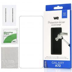 WE Verre Trempé pour Samsung Galaxy A72 - Film Protection écran Anti-Rayures - Anti-Bulles d'air Ultra Résistant - Dureté 9H Glass