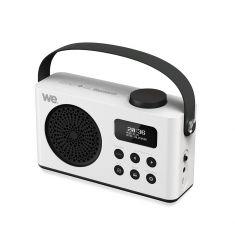 Radio réveil portable DAB/DAB+/FM RMS 3W - batterie rechargeable Lecteur USB/Micro SD - BT prise secteur - blanche