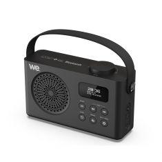 Radio réveil portable DAB/DAB+ / FM RMS 3W - batterie rechargeable Lecteur USB/Micro SD - BT prise secteur - Noir