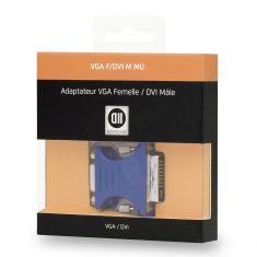Adaptateur VGA femelle/ DVI mâle DVI-I 24+5