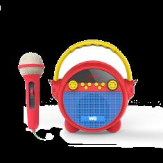 Radio réveil karaoké avec micro RMS 5w,  BT, Lecteur USB Micro SD Radio FM, batterie rechargeable bandoulière inclus
