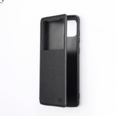 Etui de protection WE noir pour smartphone HUAWEI Y6P Résistant aux chocs et chûtes. Accès caméra et multi-position.
