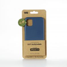 WE Coque Bio Apple iPhone 11 - Eco-Friendly Biodégradable et Compostable - Housse Etui Antichoc, Compatible avec L'induction, Ultra Protection Bumper, Anti Rayure - Bleu