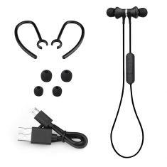 Ecouteurs Sport Bluetooth Noir Résistant à l'eau IPX4 Micro intégré / Ecouteurs aimantés Tour oreille amovible /