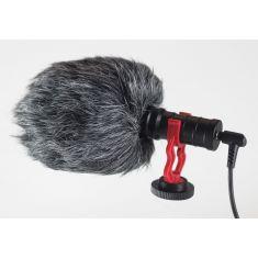 Microphone moumoute WE Vlog bonnette anti-vent compt tel, tablette, pc, caméra fixation cold shoe