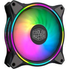 Ventilateur CoolerMaster Master Fan MF120 Halo ARGB- 12cm 4 broches 650 à 1800 RPM 47,2 CFM 12V 3W MFL-B2DN-18NPA-R1