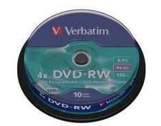 DVD-RW - 4,7 Gb - Spindle de 10