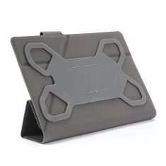 H-850 TPU Noir Housse universelle pour tablettes 8'' Toucher doux Attaches en silicone ajustables Languette magnétique