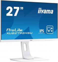 """Moniteur IIYAMA 27"""" dalle IPS 4ms ULTRA MINCE 1920x1080 VGA HDMI DisplayPort Haut-parleurs USB-HUB 2x2.0 BLANC XUB2792HSU-W1"""