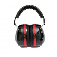 Casque Anti bruit atténuation 32dB avec housse de transport noir/rouge