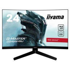 Moniteur IIYAMA 23.6'' 1ms G-Master Red eagle incurvé 1920x1080 165Hz 2xHDMI DisplayPort 2USB HPs FreeSyn Black Tuner/ G2466HSU-B1