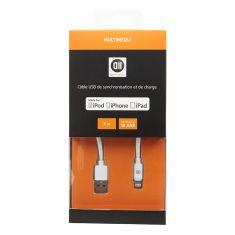 Câble USB pour Apple Lighting 3 m blanc
