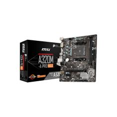 CM MSI A320M-A PRO MAX Socket AM4 Micro-ATX AMD A320 : 2x DDR4 SATA 6 Gb/s, M.2, 1x PCI-E 3.0 x16 Gigabit Ethernet