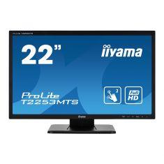 "Moniteur IIYAMA 21 -5""TactileOptique (dual) 1920x1080 2ms VGA - DVI - HDMI haut parleur USB (interface) 1000:1 / T2253MTS-B1"
