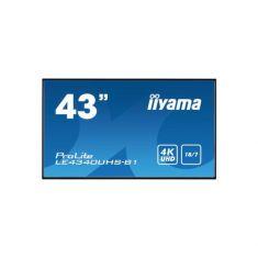"IIYAMA LFD 43"" dalleAMVA3 4K 3840x2160 VGA DVI 2xHDMI 350cd/m² 8ms 5000:1  VESA 400x400 Conception sans ventilation motorisée HPs"
