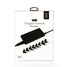 Chargeur universel pour PC portable 90W format SLIM avec 8 fiches noir