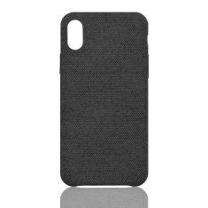 Coque en tissu iPhone X - XS Noir