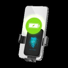 """WE Support smartphone chargeur sans fil voiture - Fixation ventouse sur le pare-brise + grille d'aération Jusqu'à 6.5"""" - Technologie Qi"""