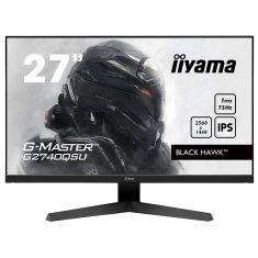 Moniteur IIYAMA 27'' 1ms G-Master Black Hawk 75Hz IPS 2560x1440 250cd/m² FreeSync HPs HDMI DisplayPort / G2740QSU-B1