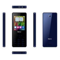 "Téléphone HAIER T20 bleu 2.4"" TFT QVGA (320*240 pixels)-MTK6261A RAM 32Mb-ROM 64Mb-0.3 megapixels feature Phone-Bluetooth- GPS"