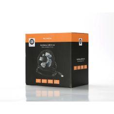 Ventilateur USB noir13 cm Rotation 360° verticale ajustable