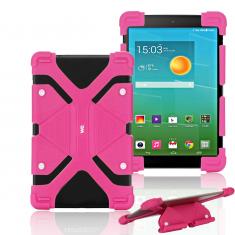 "Protection Universelle en silicone pour tablettes 8.9/12"" Fuchsia"