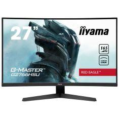 "Moniteur IIYAMA 27"" 1ms G-MASTER Red Eagle dalle VA incurvé 165 Hz 1920x1080 250cd/m² 2xHDMI DP HPs 2xUSB HUB Black Tuner FreeSync"