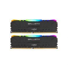 MEMC CRUCIAL BALLISTIX BLACK RGB 16GB Kit (2x8GB) DDR4 3200MT/s CL16 UDIMM 288pin BL2K8G32C16U4BL