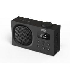 Radio portable DAB+/FM rechargeable RMS 3W - Double alarme Luminosité réglable Noire
