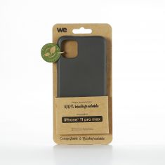 WE Coque Bio Apple iPhone 11 Pro Max - Eco-Friendly Biodégradable et Compostable - Housse Etui Antichoc, Compatible avec L'induction, Ultra Protection Bumper, Anti Rayure - Noir
