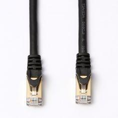 Câble RJ45 droit couleur noir - 5m S/STP Cat 8 avec snagless et connecteurs en or