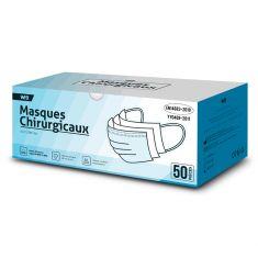 Masques chirurgicaux 3 plis EN14683 Norme CE type II R BOITE 50 Masques Haute filtration