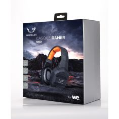 Casque Gamer filaire sortie 2 jack Surround virtuel 7.1 + micro + adaptateur 2 jack F/1 jack M + adaptateur 2 jack F / USB