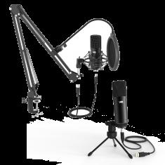 WE Pack Microphone USB pour streaming, vlogging, Podcats, enregistrements - bras réglable et orientable - filtre anti-pop - suspension anti-chocs - fixation table et trépied inclus