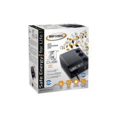 Onduleur INFOSEC Z1 Zenergy Cube EX 600 Haute Fréquence 600 VA 3 Prises FR/SCHUKO Garantie 2 ans 66073