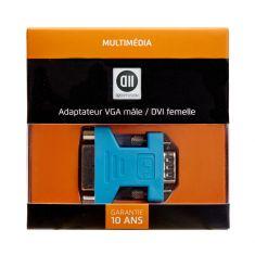 Adaptateur VGA mâle / DVI femelle DVI-I 24+5