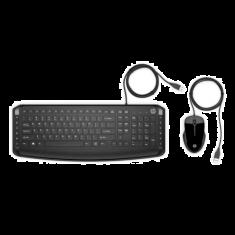 Clavier et souris filaire HP Pavilion 200 clavier compact 12 raccourcis 3 LED souris brillante 16000 Dpi Fiable confort 9DF28AA
