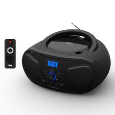 Lecteur Radio CD-USB(MP3)-Bluetooth avec télécommande, 2*2W Noir