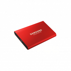 SSD EXT SAMSUNG T5 500G Finition métal couleur Rouge  MU-PA500R/EU