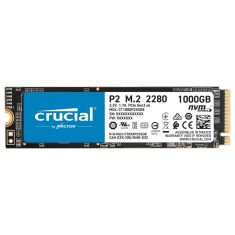 SSD CRUCIAL 1To P2 M.2 Type 2280 3D NAND NVMe™ PCIe® 2100MB/s Lecture, 1150MB/s Écriture Gar 5ans CT1000P2SSD8