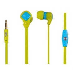 Écouteurs bi-colores WE à câble plat avec micro
