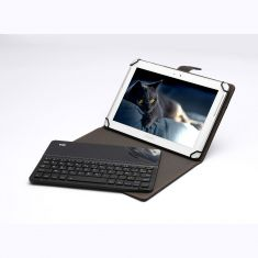 Etui tablette+ Clavier Bluetooth WE Etui Universel 9-11'' Compatible Android/iOS/Windows Noir-Gris