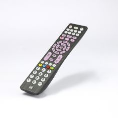 TELECOMMANDE UNIVERSELLE 4 EN 1 TOUCHES RETROECLAIREES TV + TNT + DVD + AUX Compatible avec + de 1600 marques