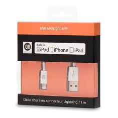 Câble USB pour Apple Lighting 1 m Référence : D2USBAMLAPP