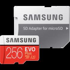 CARTE MEMOIRE SAMSUNG M-SD 256G ADA MICRO SD EVO PLUS avec ADAPT. SD MB-MC256HA/EU - classe 10