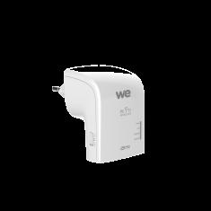 Répéteur wifi WE dual band AC750 2.4GHz et 5GHz 2 * Ethernet (RJ45 femelle) blanc