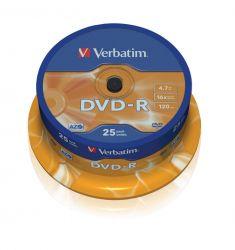 DVD-R - 4,7 Gb - Spindle de 25