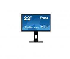 Moniteur IIYAMA 21.5'' LED 16:9 4ms Dalle VA 1920x1080 VGA Display Port HDMI HP Pied rég en haut Pivot XB2283HS-B5